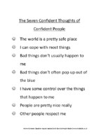 The Seven Thoughts of Confident People